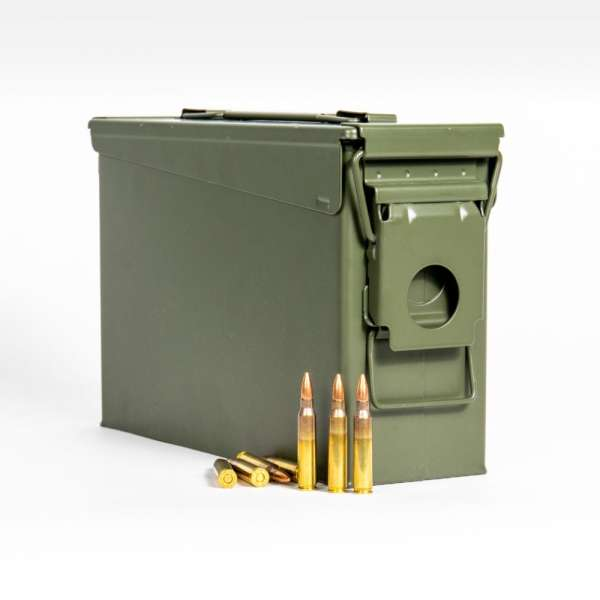 Federal XM193ML1 5.56x45mm 55 Grain FMJ M193 in Ammo Can Front No Label